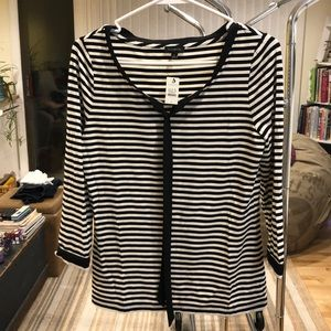 NWT Talbots 3/4 sleeve striped shirt